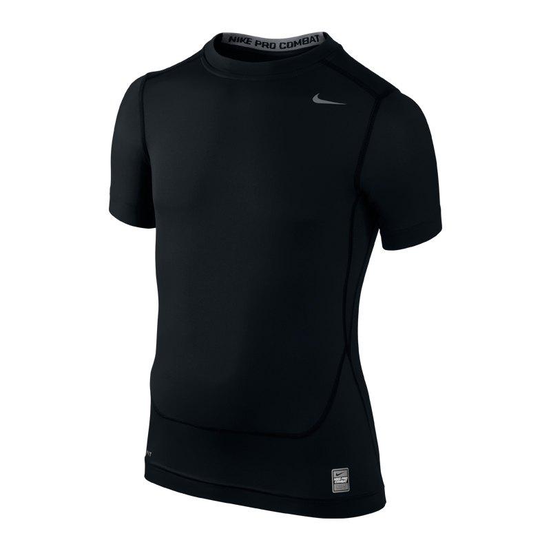 Nike Pro Core Shortsleeve Shirt Tight Kids F010 - schwarz