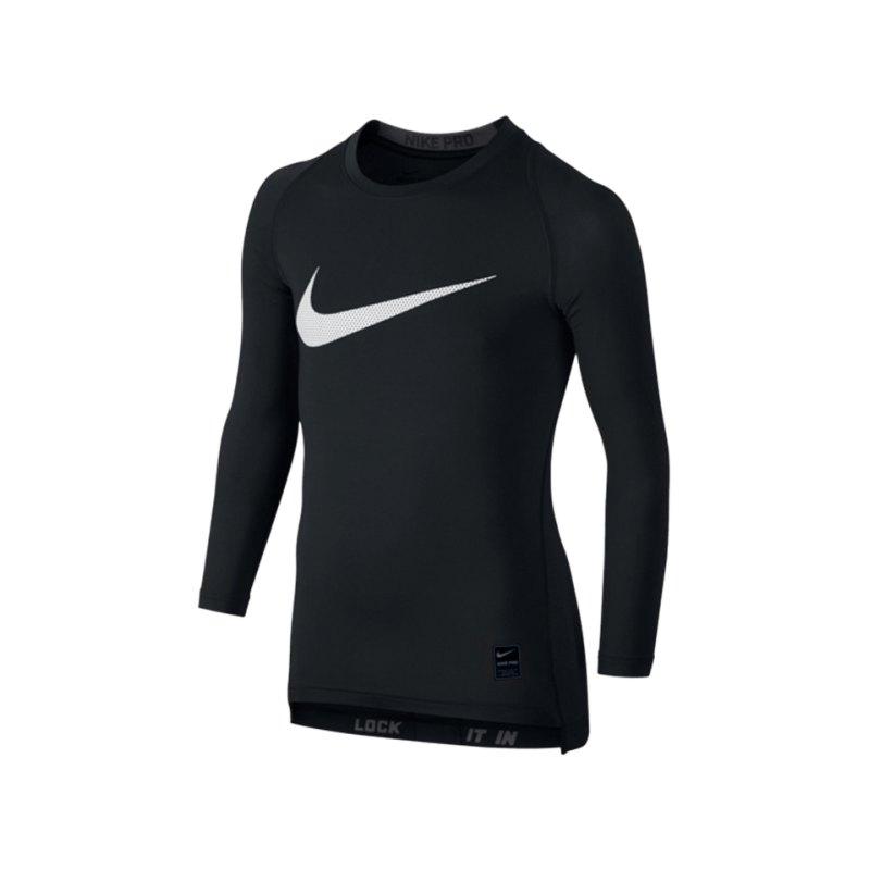 Nike Pro Hypercool Hybrid Longsleeve Kids F010 - schwarz