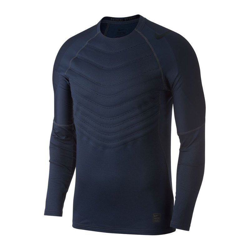 Nike Pro Hyperwarm AeroLoft Longsleeve Shirt F011 - schwarz