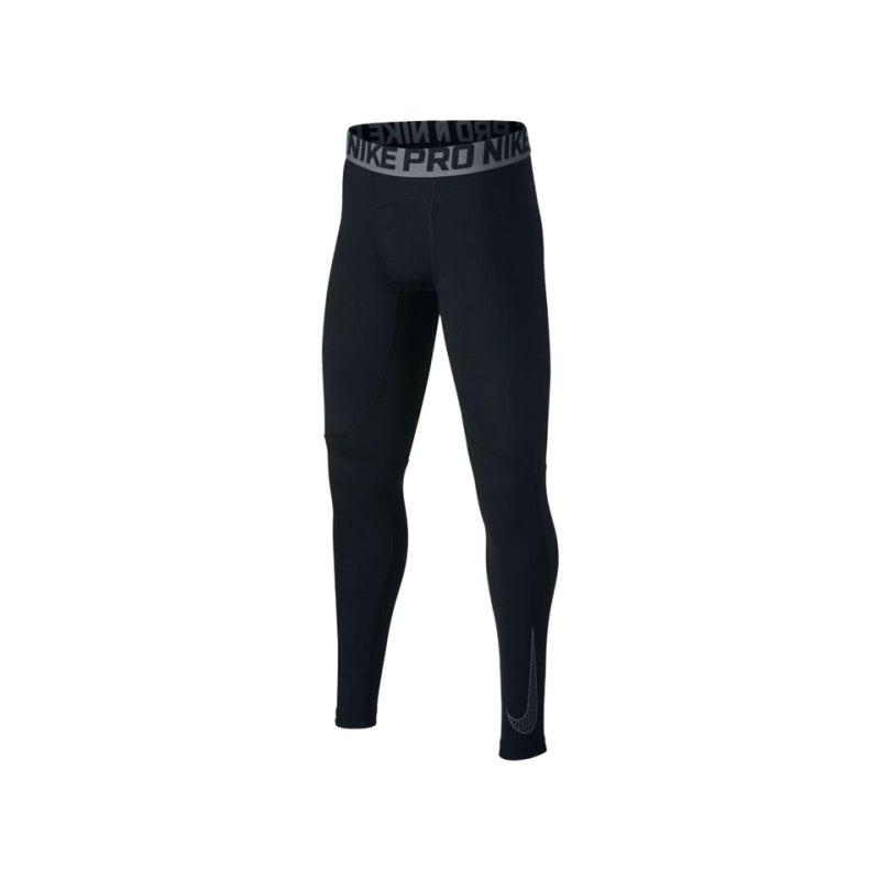 Nike Pro Tight Hose lang Kids Schwarz F010 - schwarz