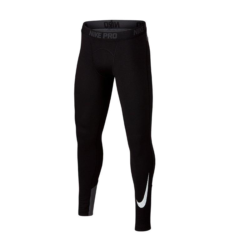 Nike Pro Warm Graphic Tight Leggings Kids F010 - schwarz