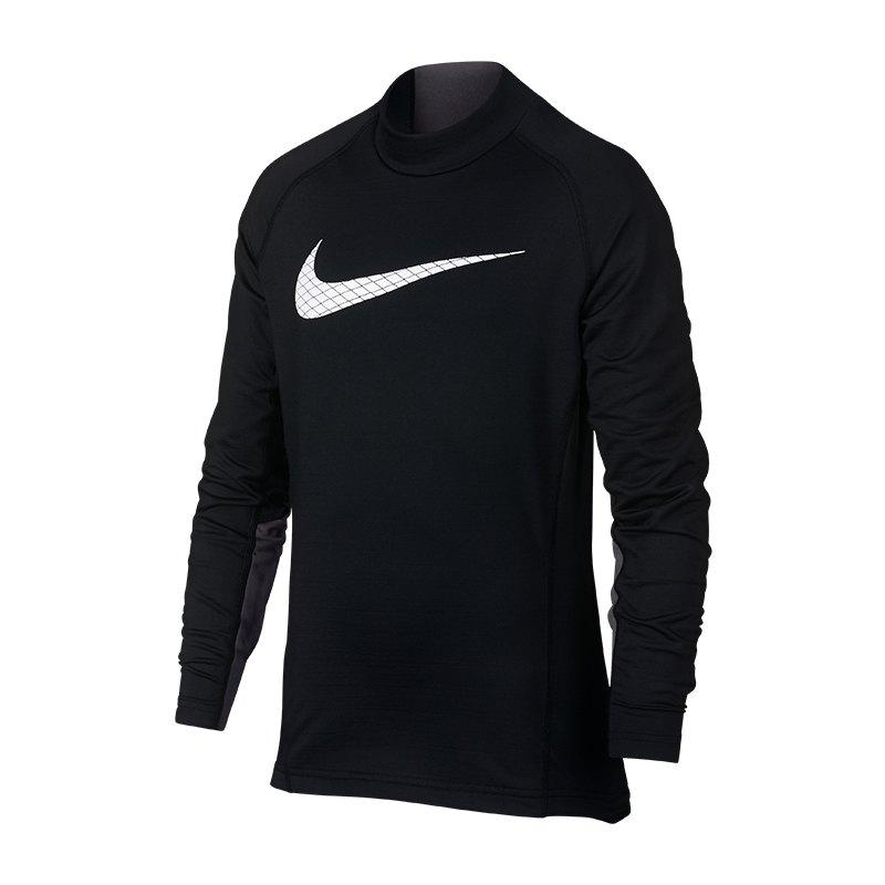 Nike Pro Warm Longsleeve Shirt Kids Schwarz F010 - schwarz