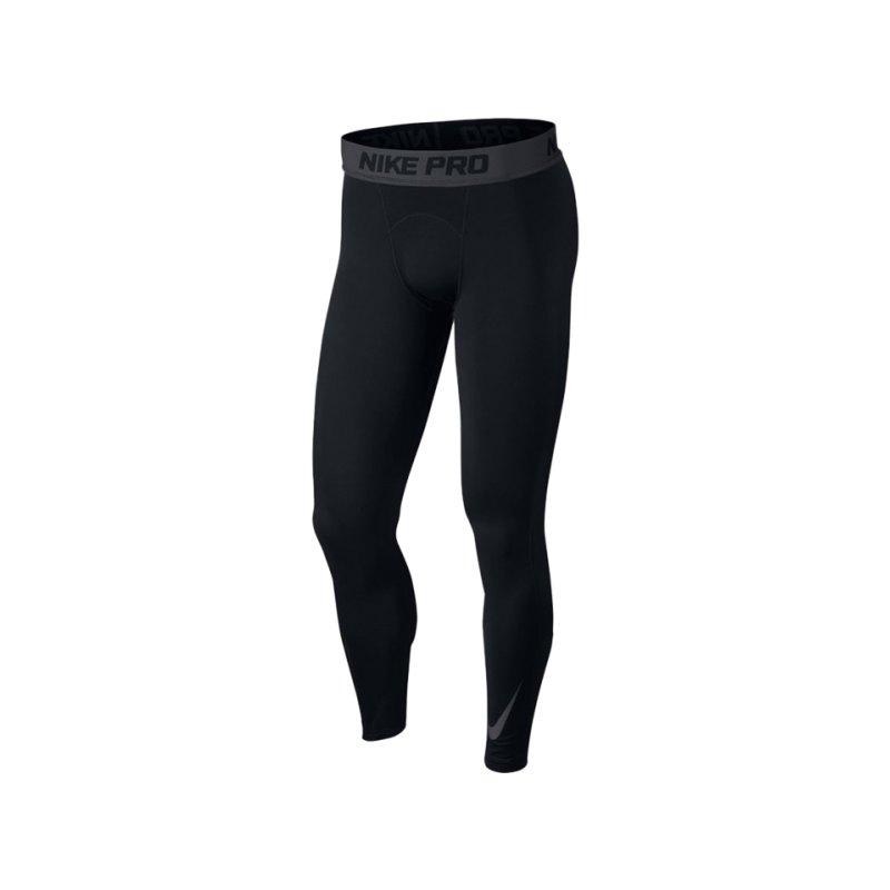 Nike Pro Warm Therma Tight Hose lang Schwarz F010 - schwarz