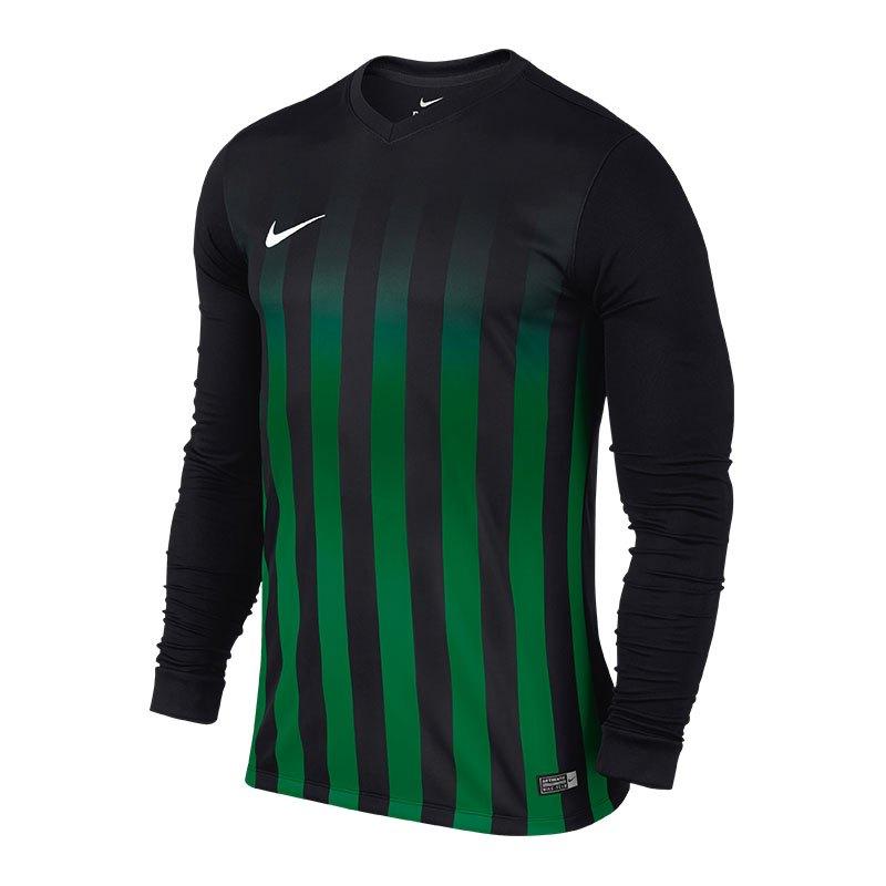 Nike Striped Division II Trikot langarm Kids F013 - schwarz