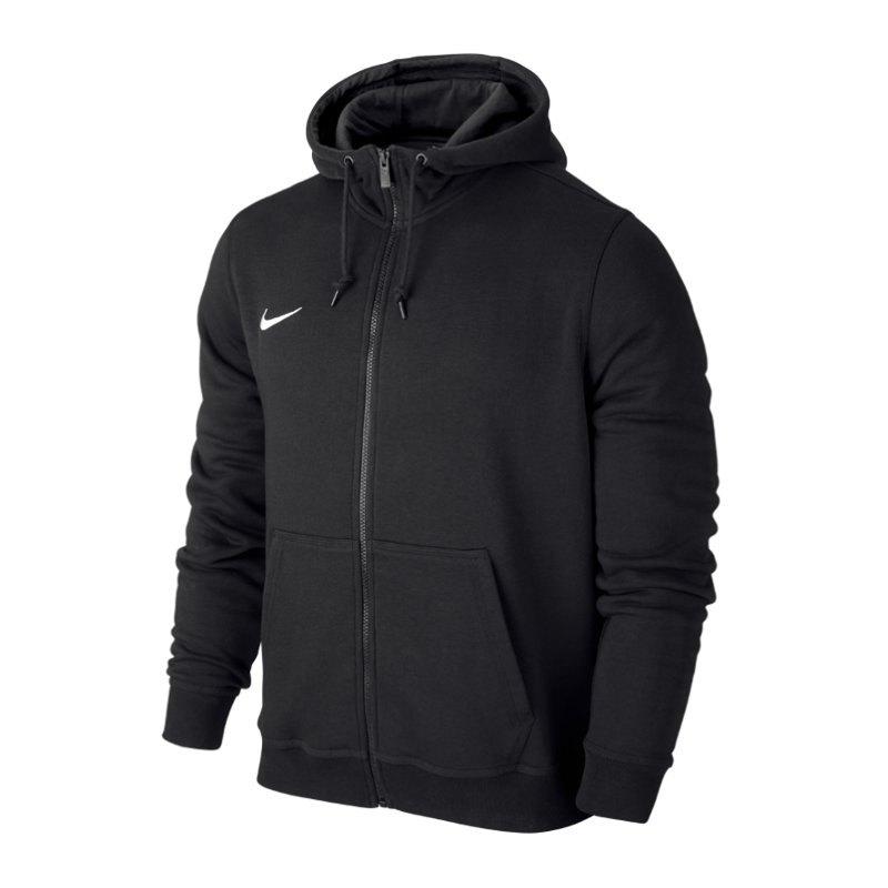 Nike Team Club Fullzip Hoody Jacke Schwarz F010 - schwarz