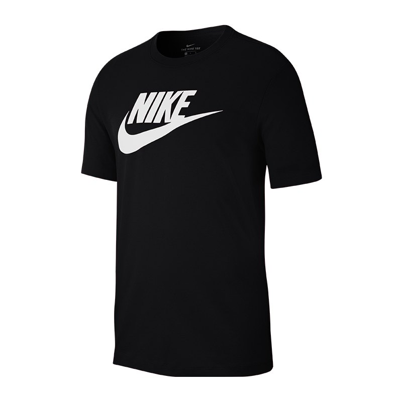 nike tee t shirt schwarz weiss f010 lifestylebekleidung. Black Bedroom Furniture Sets. Home Design Ideas