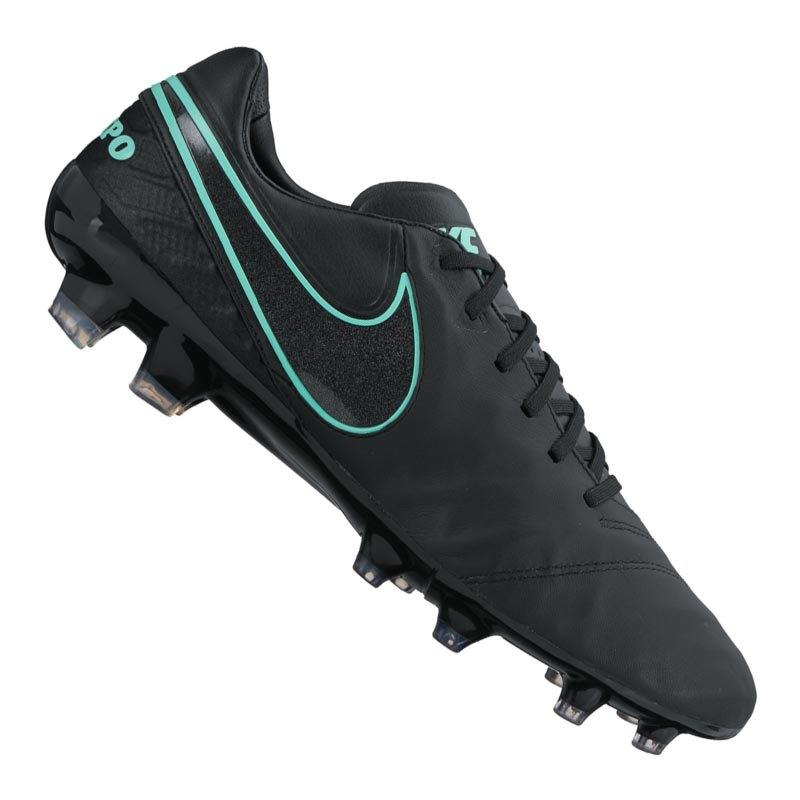 best service e875d 20961 Nike Tiempo Legacy II FG Schwarz Türkis F004 - schwarz ...
