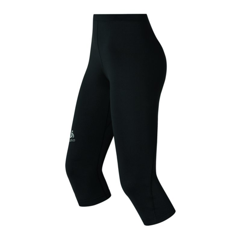 odlo sliq tights 3 4 hose running damen f15000 schwarz. Black Bedroom Furniture Sets. Home Design Ideas