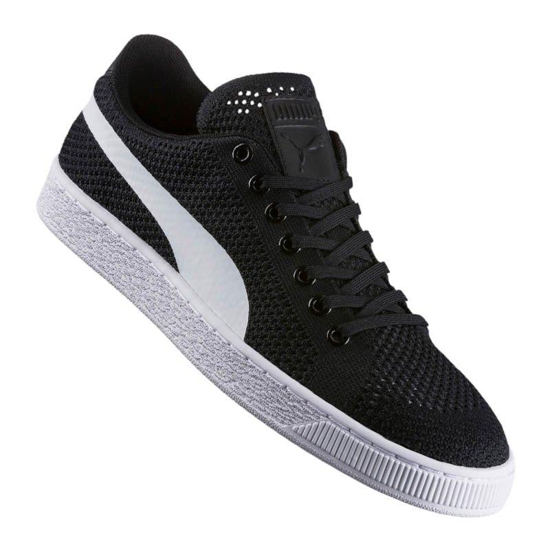 PUMA Basket Classic Evo Knit Sneaker Schwarz F01 - schwarz
