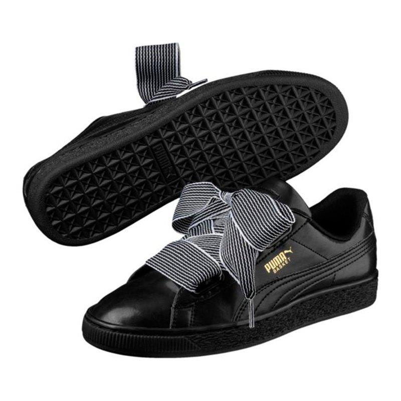 puma basket heart sneaker damen schwarz f01 lifestyle. Black Bedroom Furniture Sets. Home Design Ideas