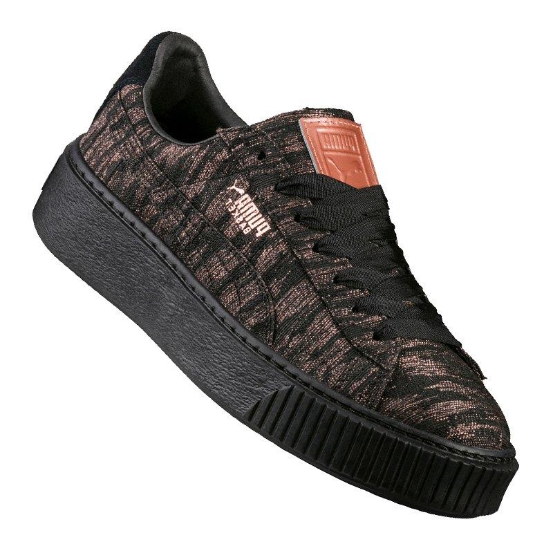puma basket platform vr sneaker damen schwarz f02. Black Bedroom Furniture Sets. Home Design Ideas