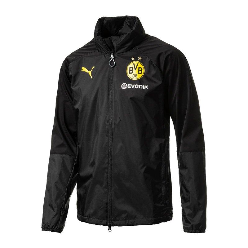PUMA BVB Dortmund Rain Top Regenjacke Schwarz F02 - schwarz