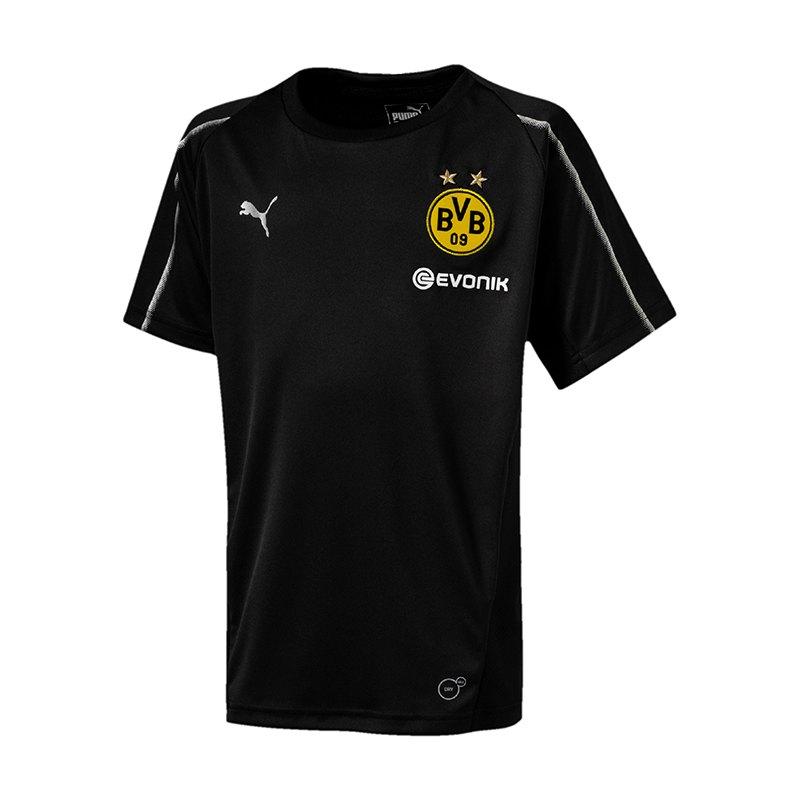 PUMA BVB Dortmund Training T-Shirt Kids F02 - schwarz
