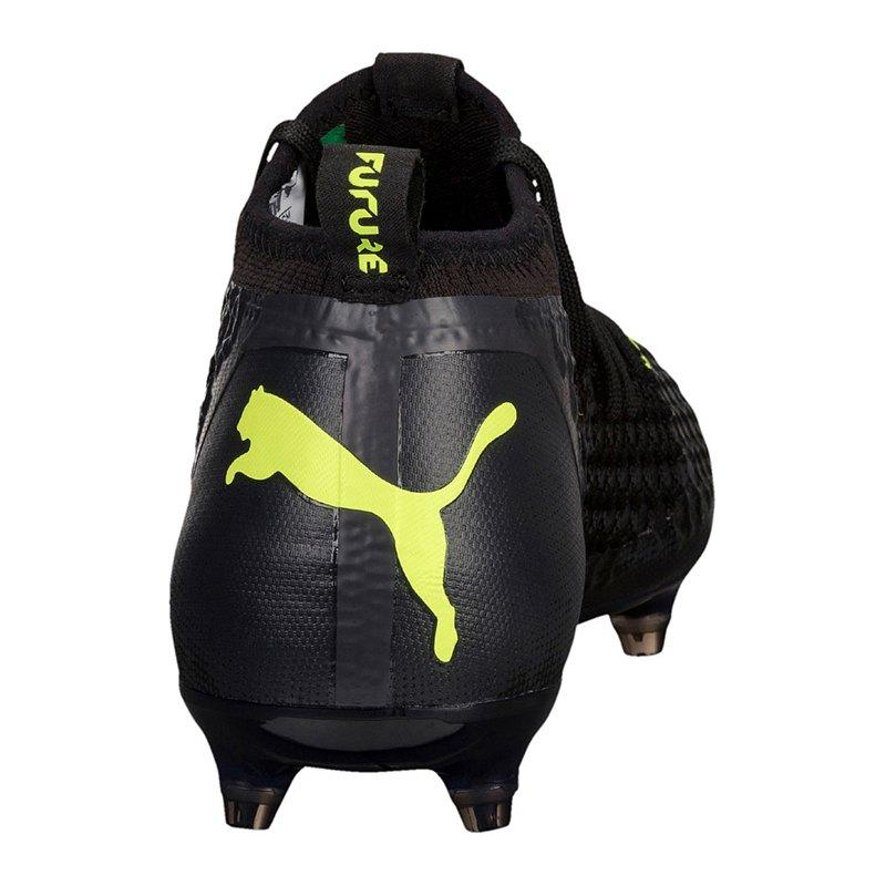 FUTURE 18.2 NETFIT FG/AG - Fußballschuh Nocken - puma black/fizzy yellow/asphalt YVH5Ad