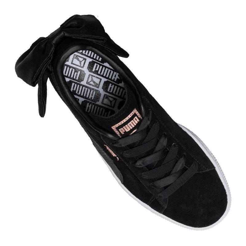 puma suede bow sneaker damen schwarz f04 streetwear. Black Bedroom Furniture Sets. Home Design Ideas
