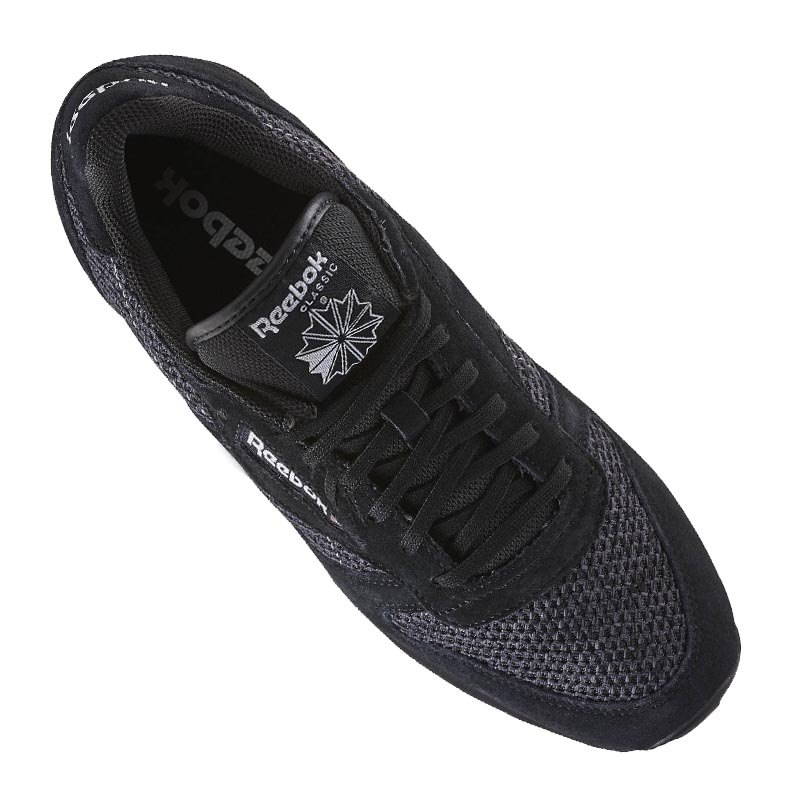 reebok classic leather knit sneaker schwarz weiss schwarz. Black Bedroom Furniture Sets. Home Design Ideas