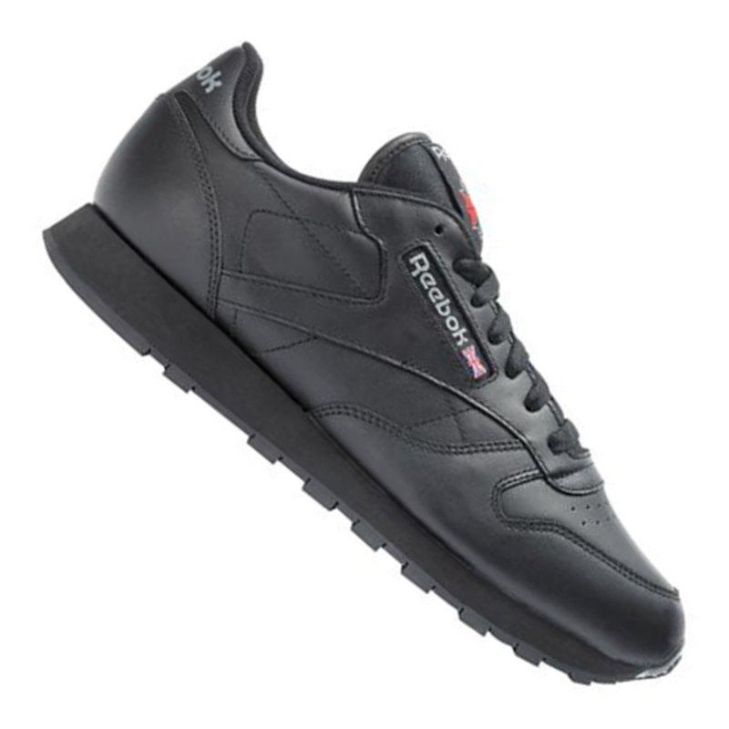 reebok classic leather sneaker damen schwarz schwarz. Black Bedroom Furniture Sets. Home Design Ideas