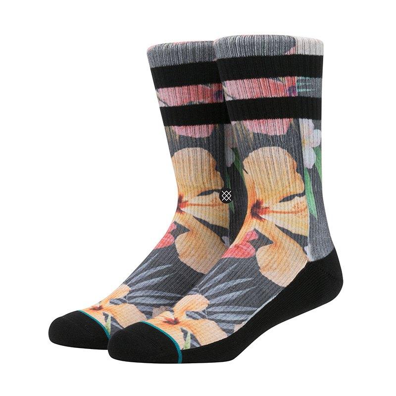 Stance Sidestep Lynx Socks Schwarz - schwarz