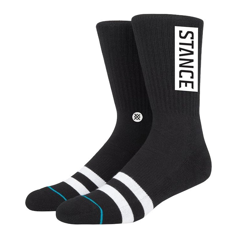 Stance Uncommon Solids OG Socks Schwarz - schwarz