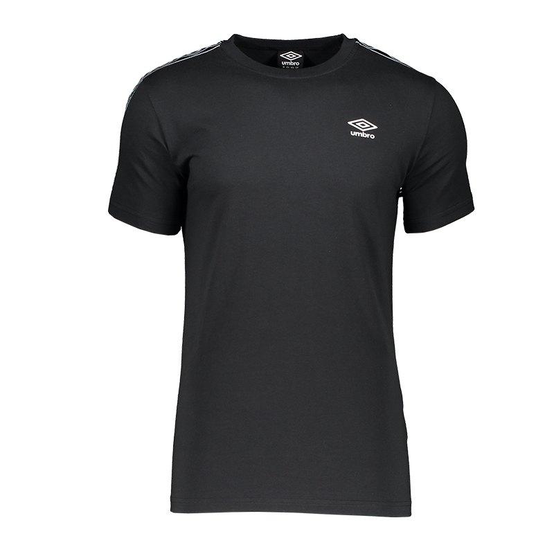 Umbro Retro Taped Tee T-Shirt Schwarz F060 - schwarz
