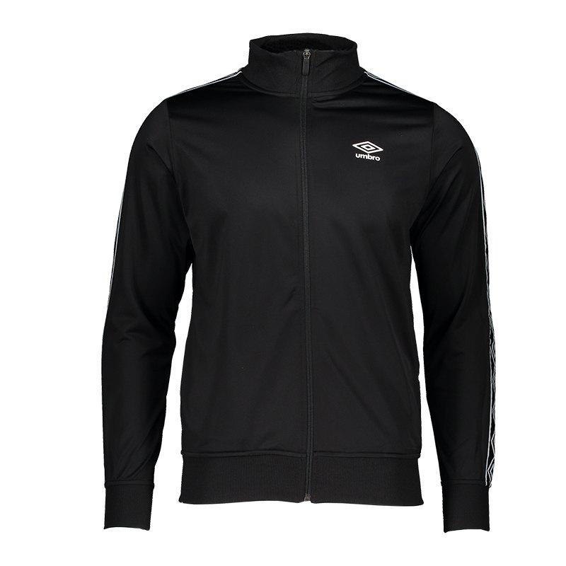 Umbro Retro Taped Tricot Jacket Jacke Schwarz F060 - schwarz