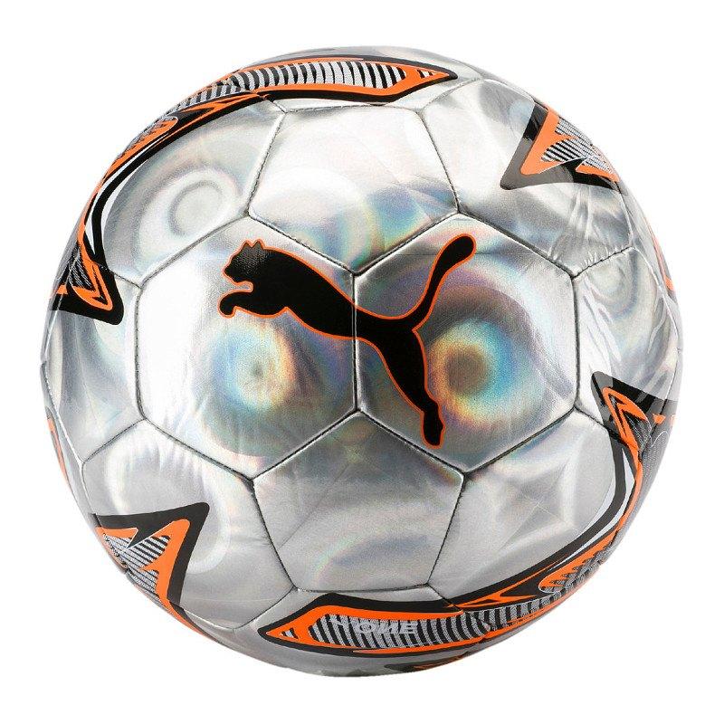 PUMA ONE Laser Trainingsball Silber Orange F01 - silber