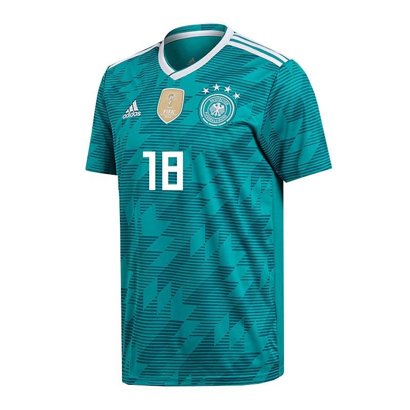 adidas DFB Deutschland Trikot Away WM 2018 Türkis inkl. Kimmich 18 - tuerkis