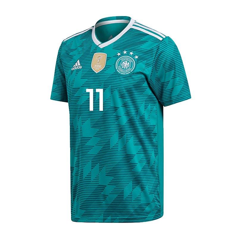 adidas DFB Deutschland Trikot Away WM 2018 Türkis inkl. Reus 11 - tuerkis