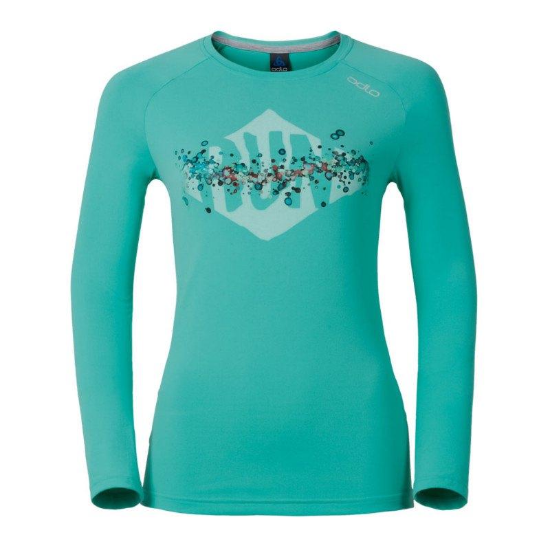 Odlo T-Shirt Sillian langarm Running Damen F40171 - tuerkis