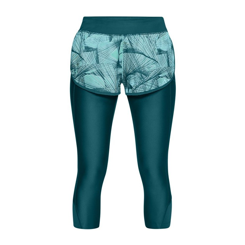 Under Armour Fly Fast 3/4 Hose Running Damen F716 - tuerkis