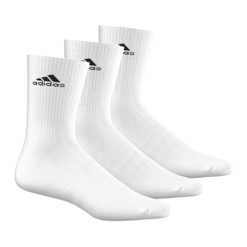 adidas 3S Performance Crew Socken 3er Pack Weiss - weiss