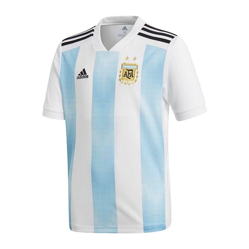 adidas Argentinien Trikot Home Kids WM18 Weiss - weiss