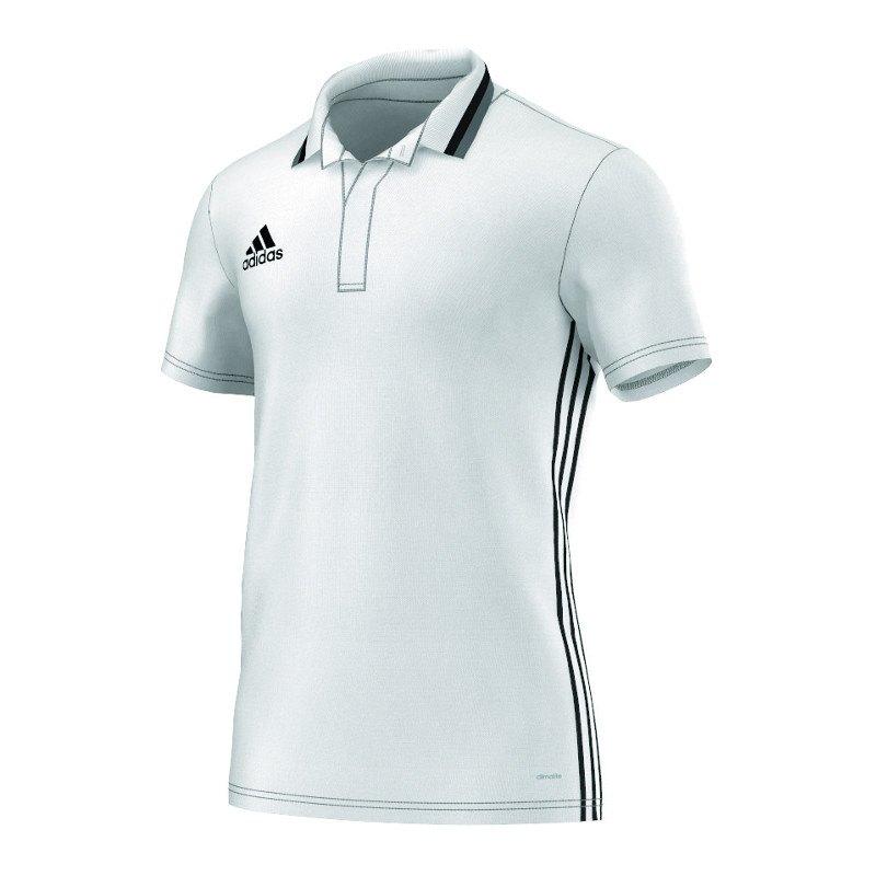 adidas Condivo 16 CL Poloshirt Weiss Schwarz - weiss