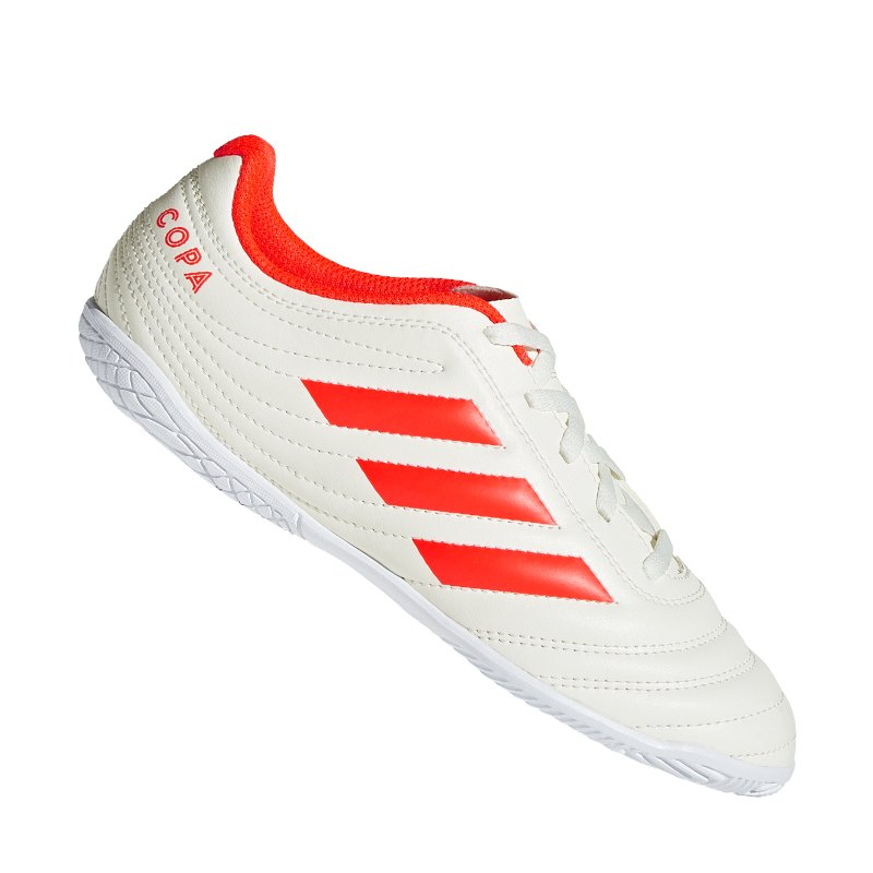 adidas COPA 19.4 IN J Halle Kids Weiss Rot - weiss