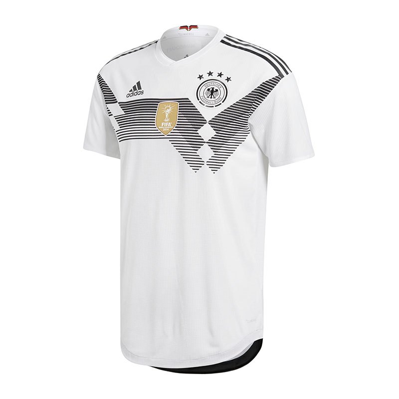 adidas DFB Deutschland Auth.Trikot Home WM18 Weiss - weiss