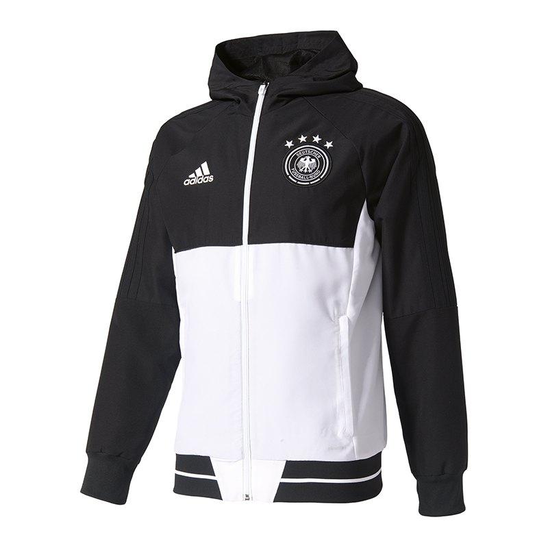 adidas DFB Deutschland Präsentationsjacke Weiss - weiss