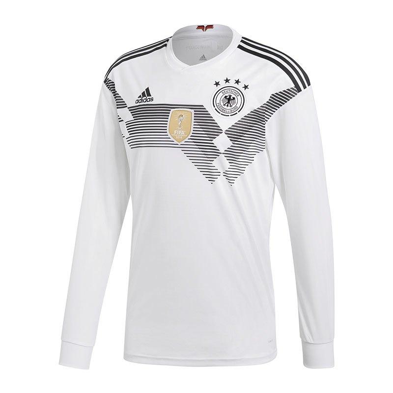 adidas DFB Deutschland Trikot H langarm WM18 Weiss - weiss