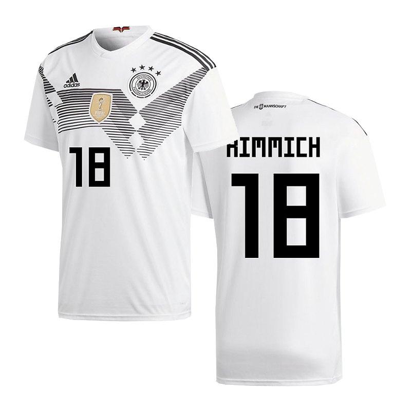 adidas DFB Deutschland Trikot Home WM 2018 Weiss inkl. Kimmich 18 - weiss