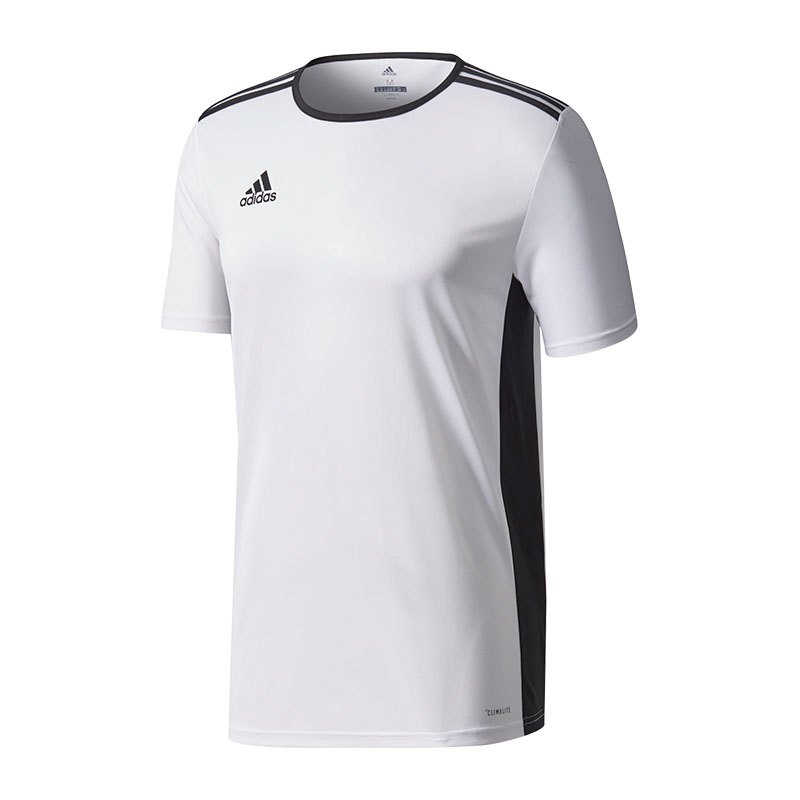 adidas entrada 18 trikot kurzarm weiss schwarz equipment mannschaftsausstattung teamsport. Black Bedroom Furniture Sets. Home Design Ideas