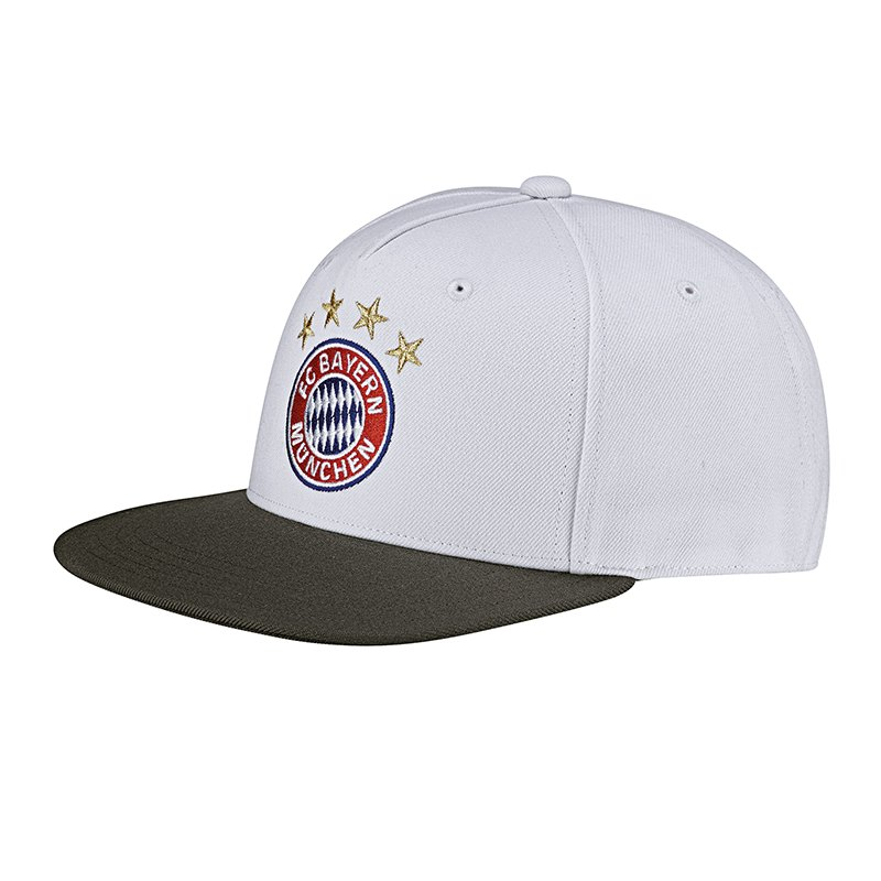adidas fc bayern m nchen flat cap weiss hut bundesliga. Black Bedroom Furniture Sets. Home Design Ideas