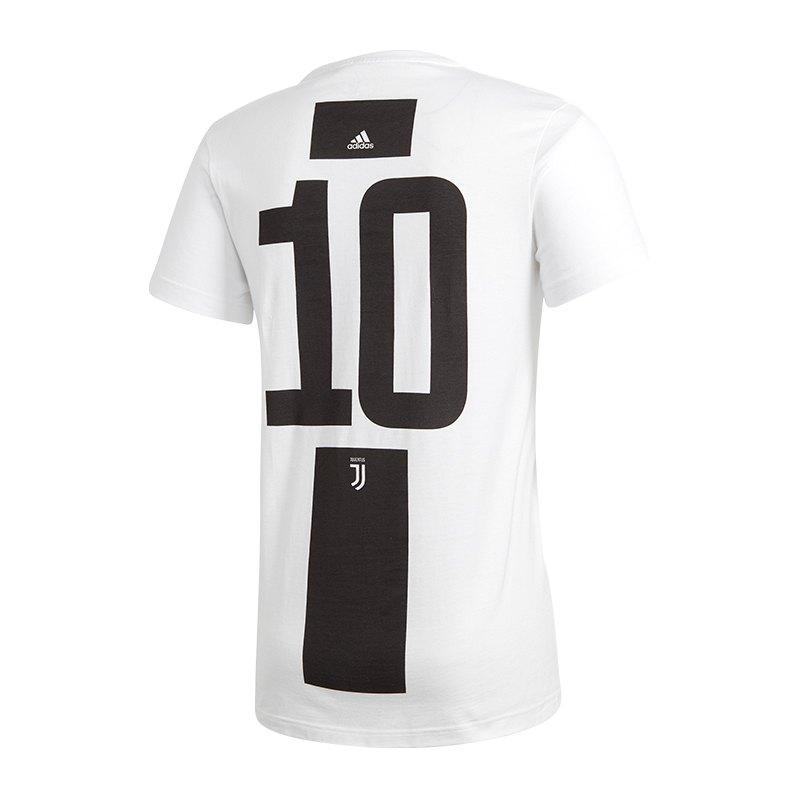 adidas fc juventus turin dybala 10 t shirt weiss fanshop. Black Bedroom Furniture Sets. Home Design Ideas
