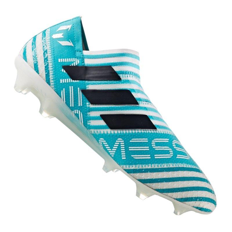 adidas NEMEZIZ 17+ 360Agility FG Weiss Blau - weiss