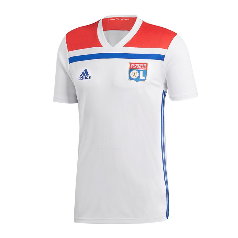adidas olympique lyon trikot home 2018 2019 weiss. Black Bedroom Furniture Sets. Home Design Ideas