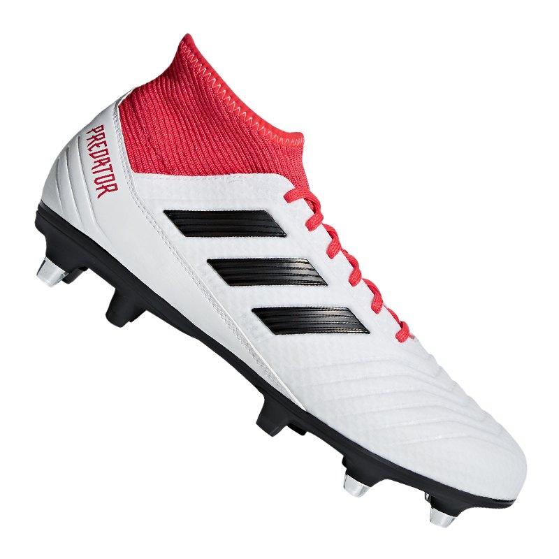 adidas Predator 18.3 SG Weiss Rot - weiss