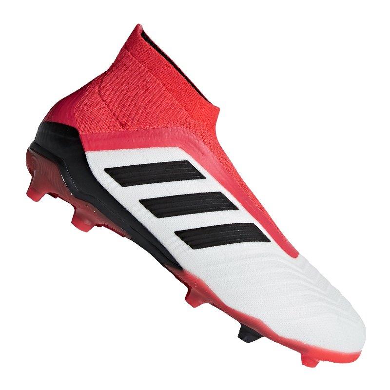 adidas Predator 18+ FG J Kids Weiss Rot - weiss