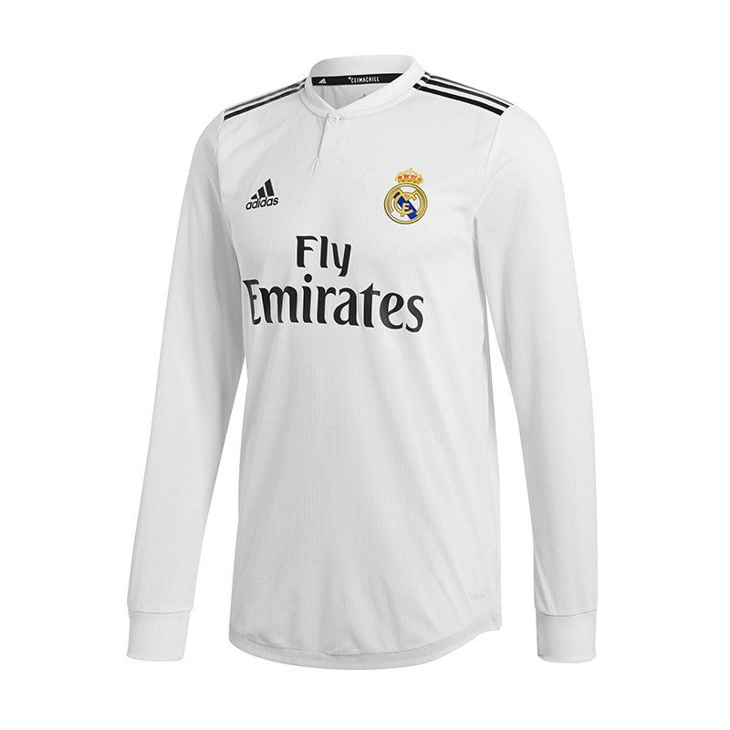 adidas Real Madrid Auth. Trikot Home LA 18/19 Weiss - weiss