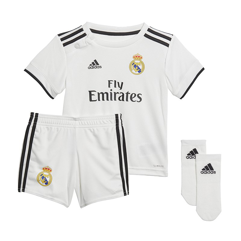 adidas Real Madrid Babykit Home 2018/2019 - weiss
