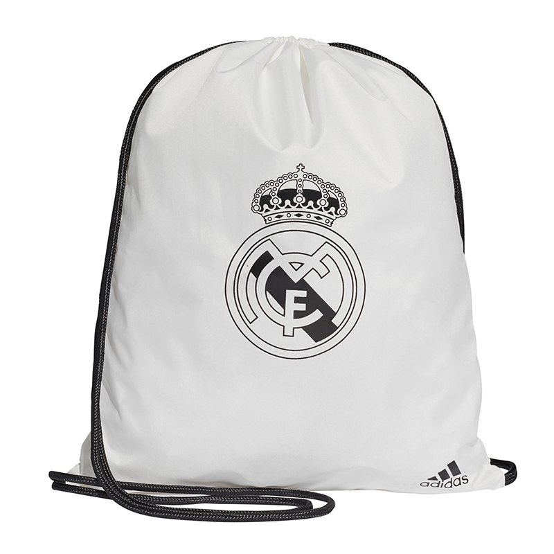 adidas Real Madrid Gymback Turnbeutel Weiss - weiss
