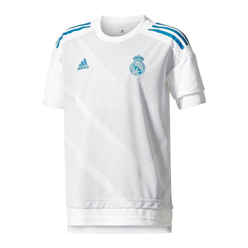 adidas Real Madrid Home Pre-Match Shirt Kids Weiss - Weiss