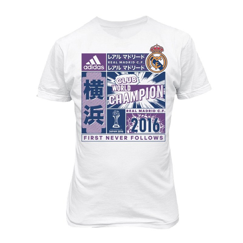 adidas Real Madrid Klub-WM Winner T-Shirt Kids 16 - weiss
